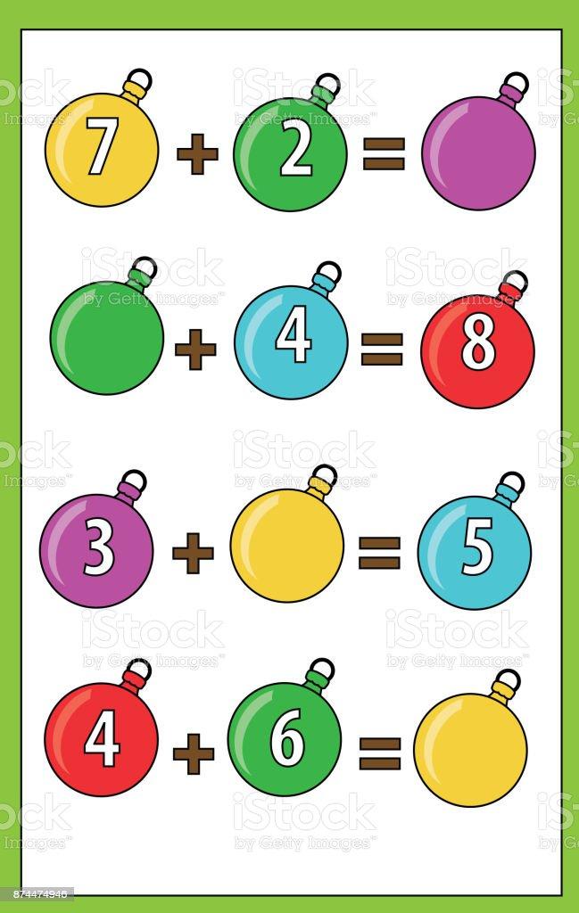 Ilustración de Juego Educativo De Matemáticas Para Niños Recuento De ...