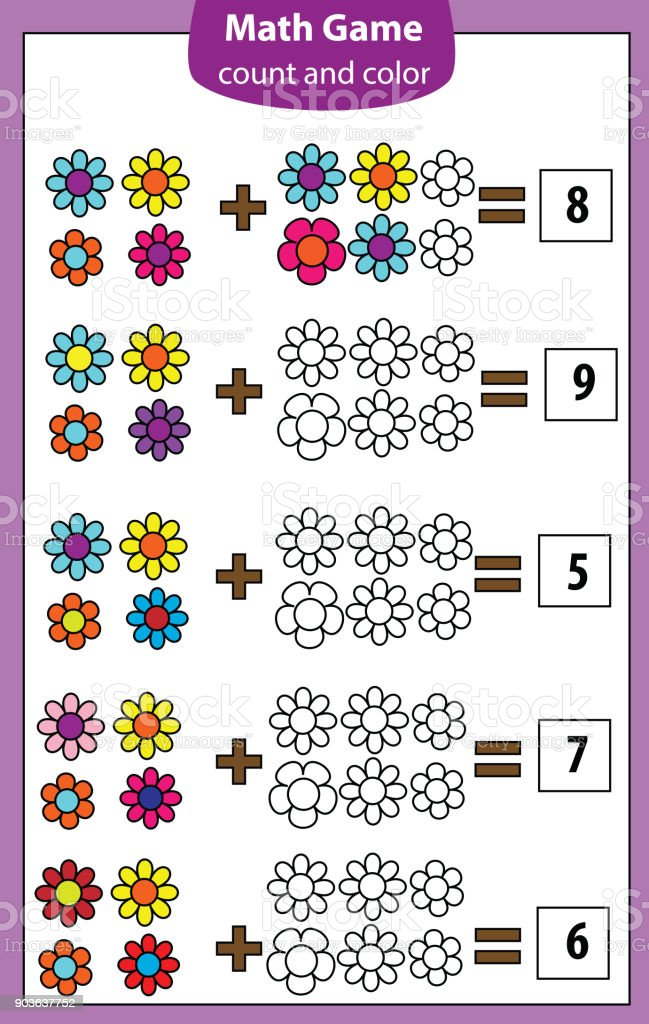 Math Educational Game For Children Counting Equations Addition ...