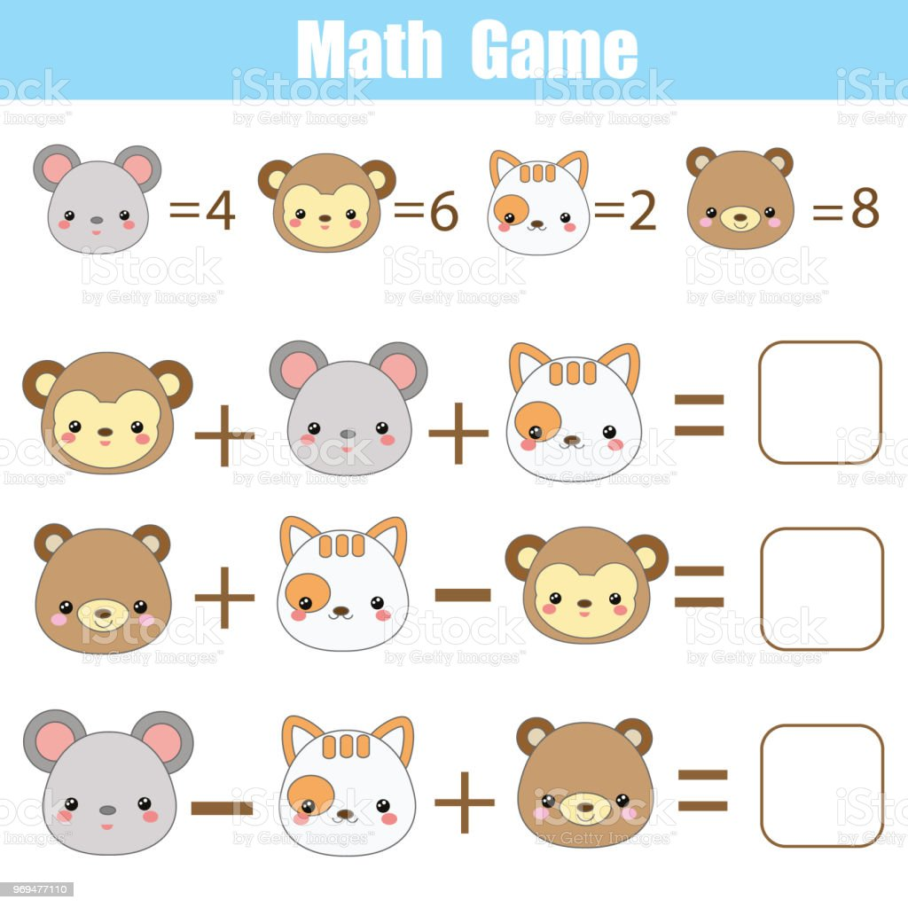 Math Educational Game For Children Counting Equations Mathematics ...