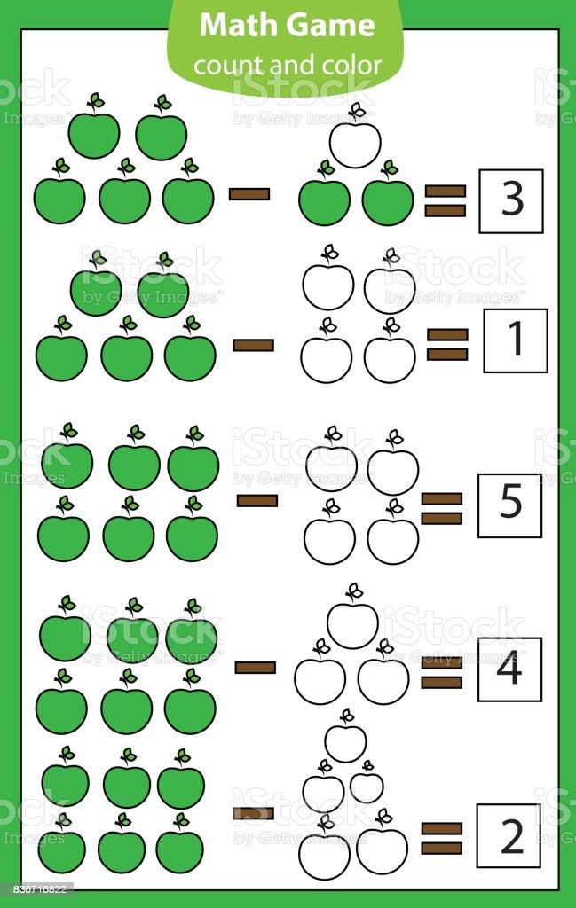 Mathe Lernspiel Für Kinder Zählen Gleichungen Subtraktion ...