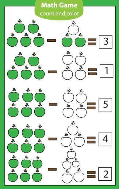 Kinder Mit Mathematik Formel Nummer Und Symbole Vektorgrafiken und ...