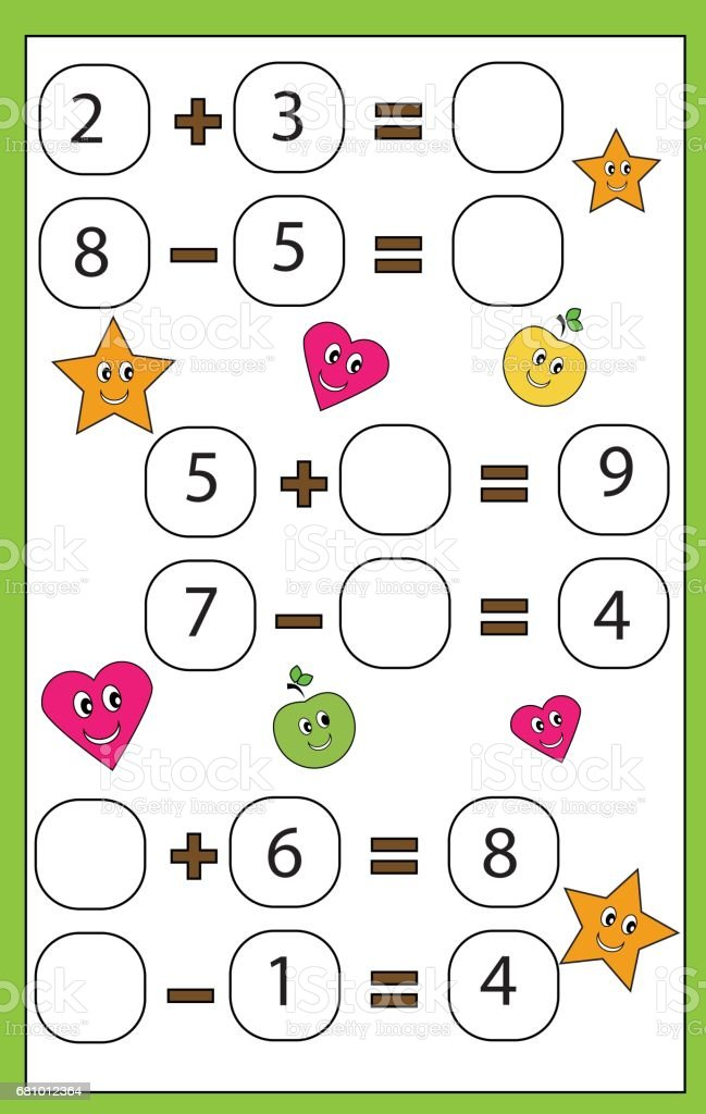 clientes primero último estilo bueno Ilustración de Juego Educativo De Matemáticas Para Niños ...