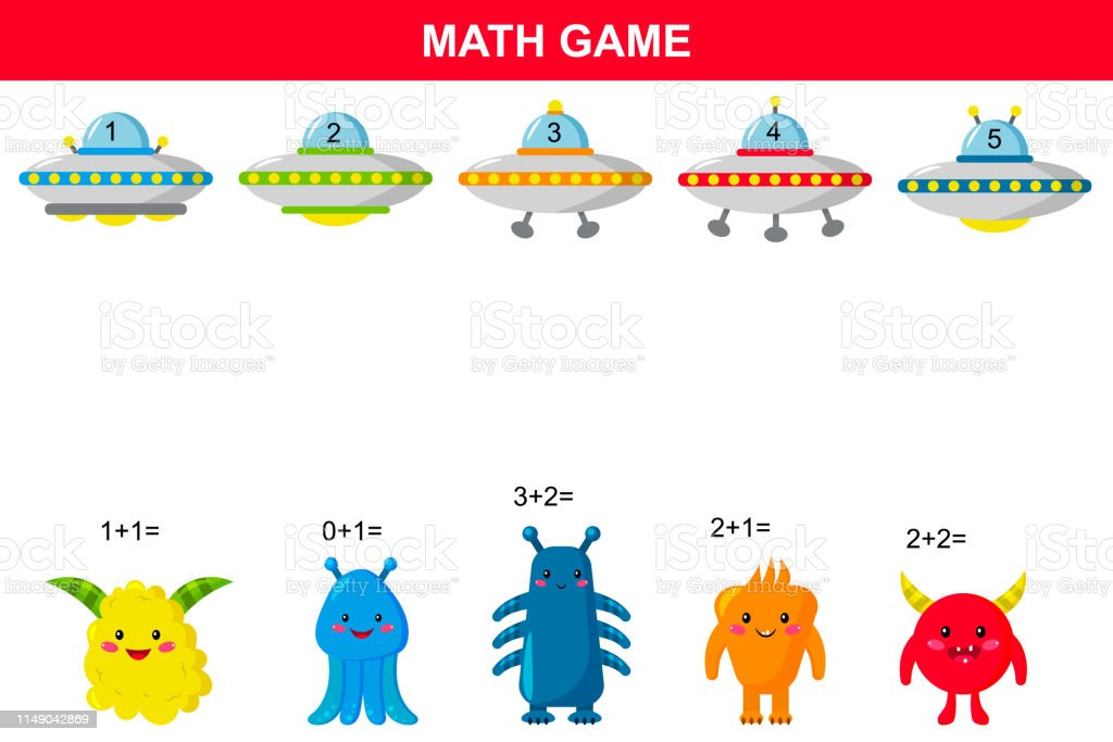 image relating to Space Printable named Math Insightful Recreation For Youngsters Printable Addition Functions