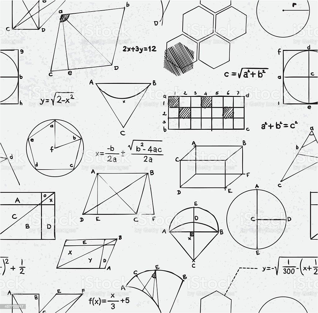 Math equations seamless vector art illustration