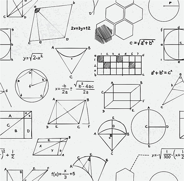 math equations seamless - math class stock illustrations, clip art, cartoons, & icons
