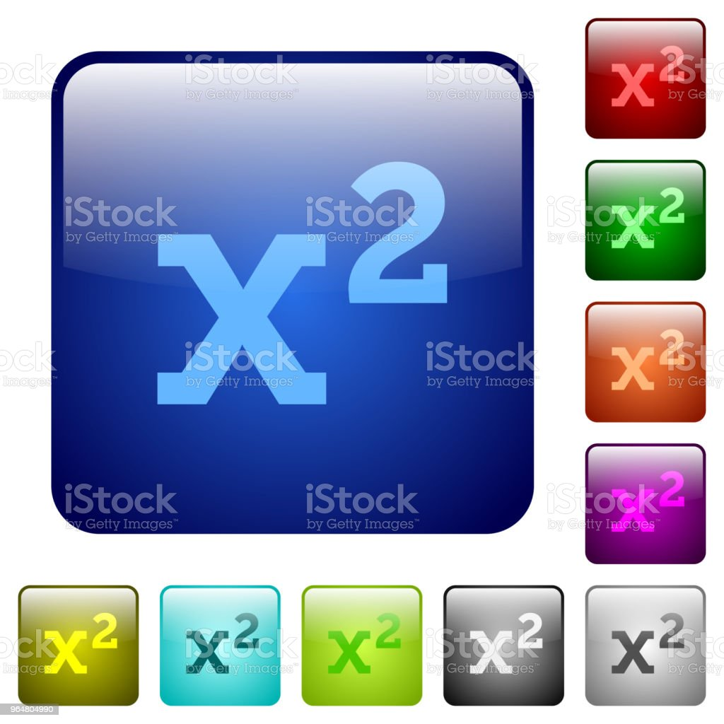 Math exponentiation color square buttons royalty-free math exponentiation color square buttons stock vector art & more images of activity