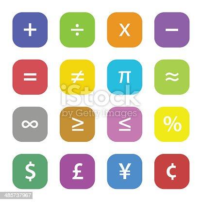 Math Financial Symbols Stock Vector Art More Images Of Calculating