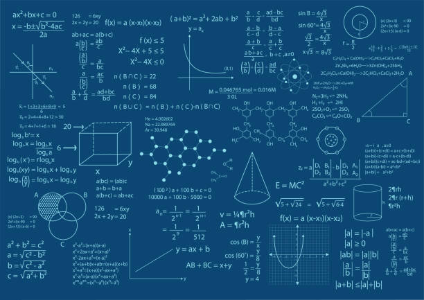 math formula background - algorithm stock illustrations