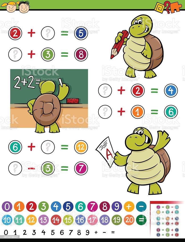 math partido ilustración dibujo animado - ilustración de arte vectorial