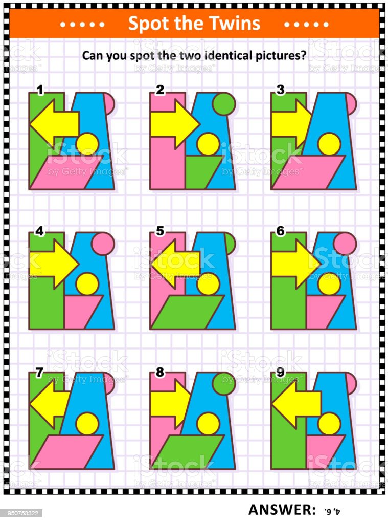 Math Game With Basic Shapes Parallelogram Rectangle Circles