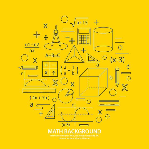 math icon background math icon background mathematical symbol stock illustrations