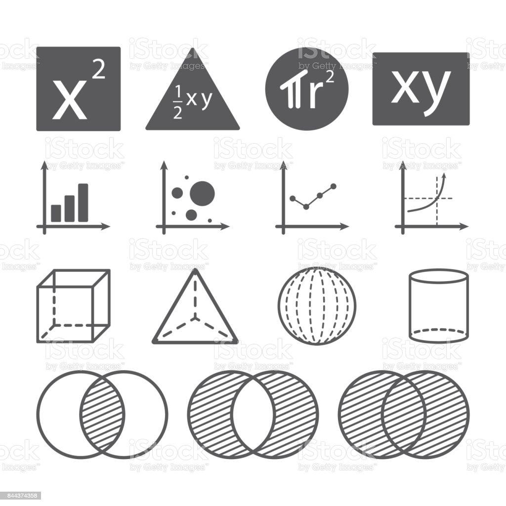math icon concept vector art illustration