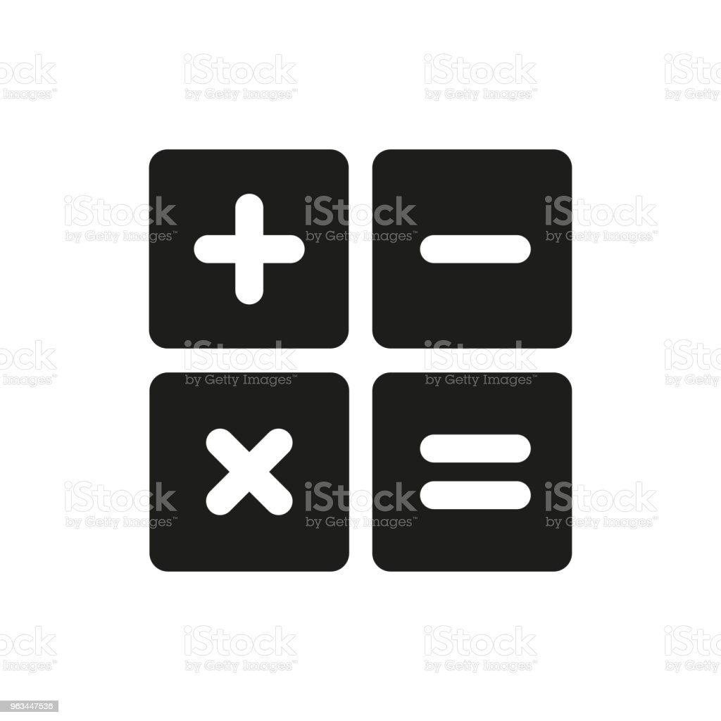 Icône de Math, Math icône Vector. Design plat - clipart vectoriel de Affaires libre de droits