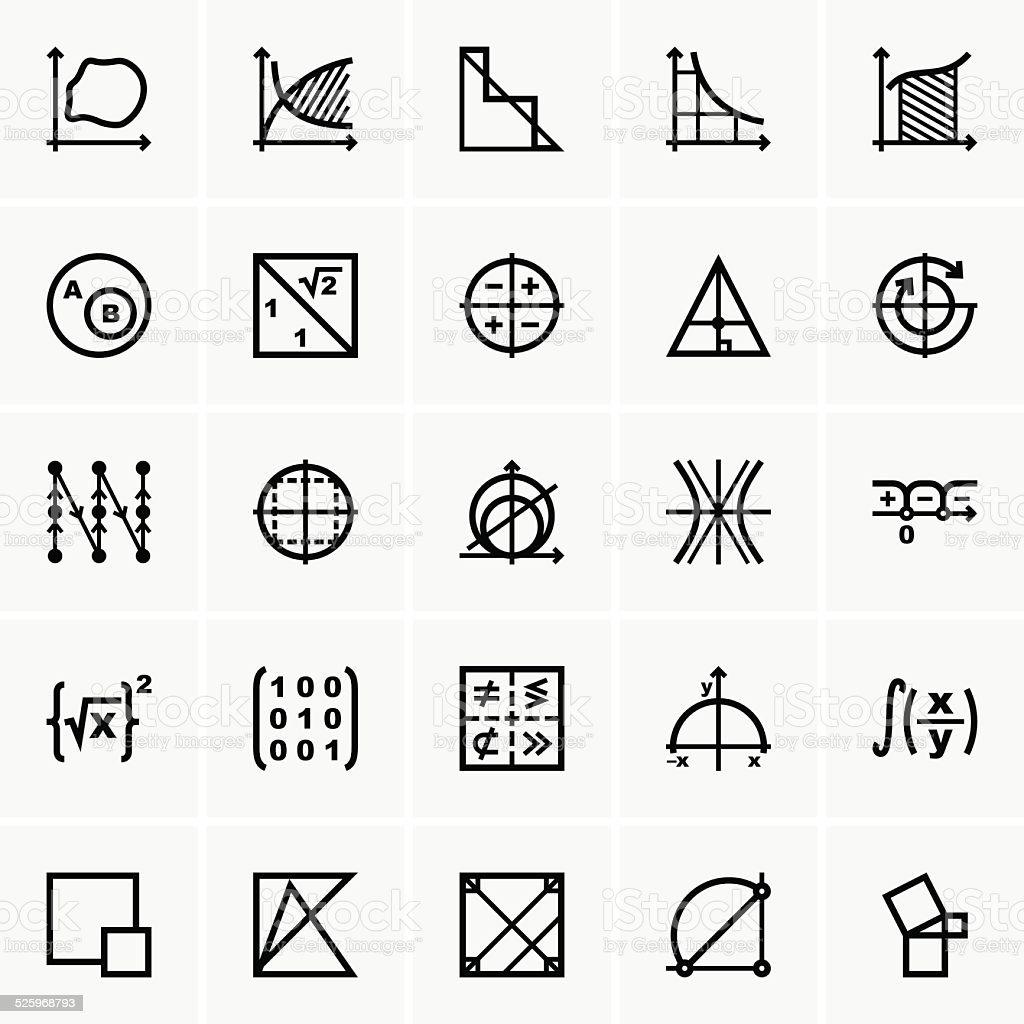 Math Symbole Vektor Illustration 525968793 Istock