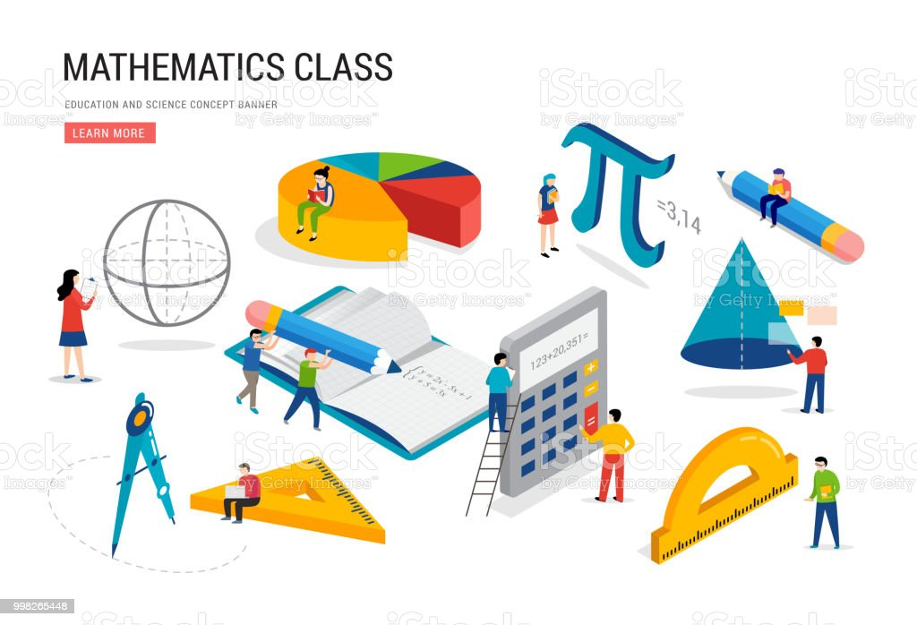 Math Lab And School Class Science Education Mathematics Scene With ...