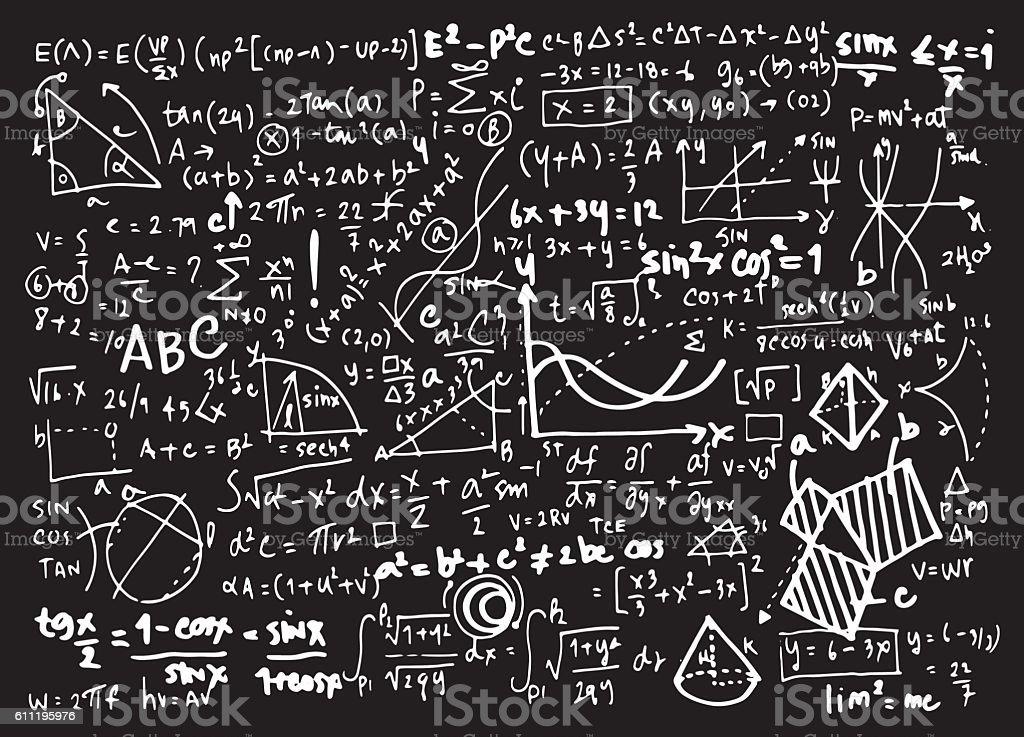 Matematyka Matematyka Edukacja Tło Okręgu Z Wykresów Geometrycznych -  Stockowe grafiki wektorowe i więcej obrazów Algebra - iStock