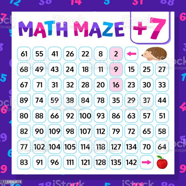 Math maze addition worksheet educational game mathematical puzzle vector id1133583574?b=1&k=6&m=1133583574&s=612x612&h=8rv3x15ja9bavm9jixvr t4q2clduthxdmtrchzaeag=