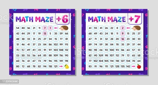 Math maze addition worksheet educational game mathematical puzzle vector id1133583580?b=1&k=6&m=1133583580&s=612x612&h=aklp20qajtf cqgoeldw6bwguwzr6fmpuhk113ntx9g=