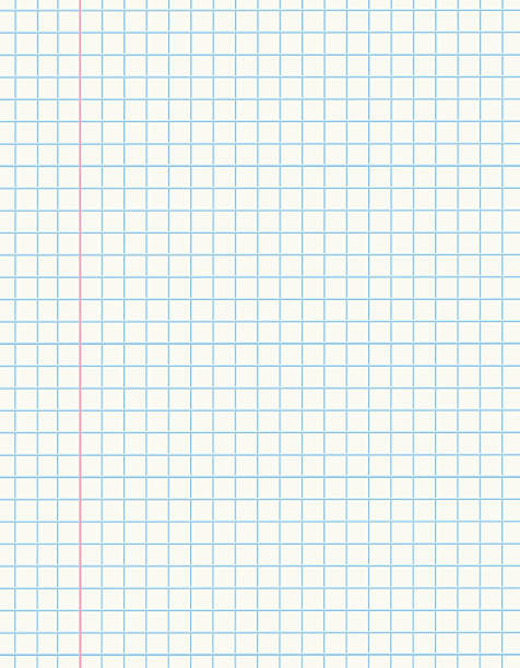 math paper - lined paper stock illustrations
