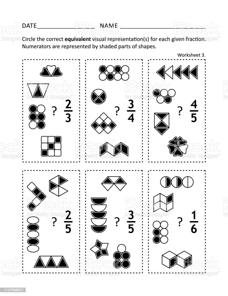 Math Practice Worksheet For Children And Adults Stock Vector Art ...