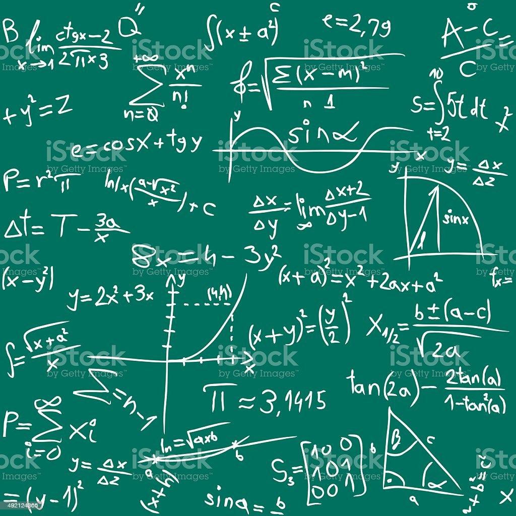 Math motif sans couture. - Illustration vectorielle