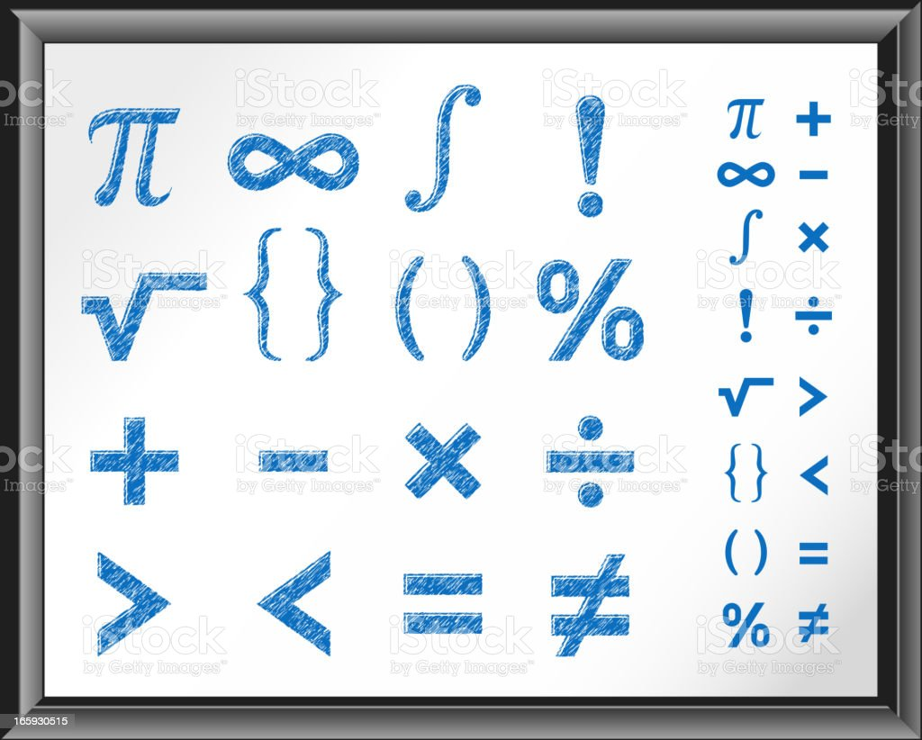 Math symbols on white board stock vector art more images of math symbols on white board royalty free math symbols on white board stock vector art buycottarizona