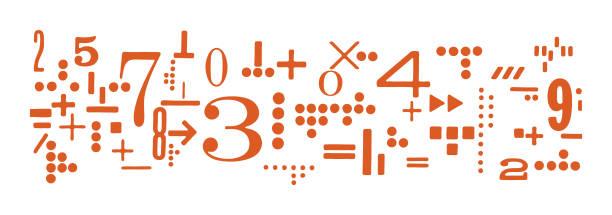 math - математика stock illustrations