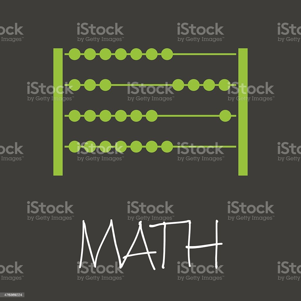 math with abacus design banner and background eps10 vector art illustration