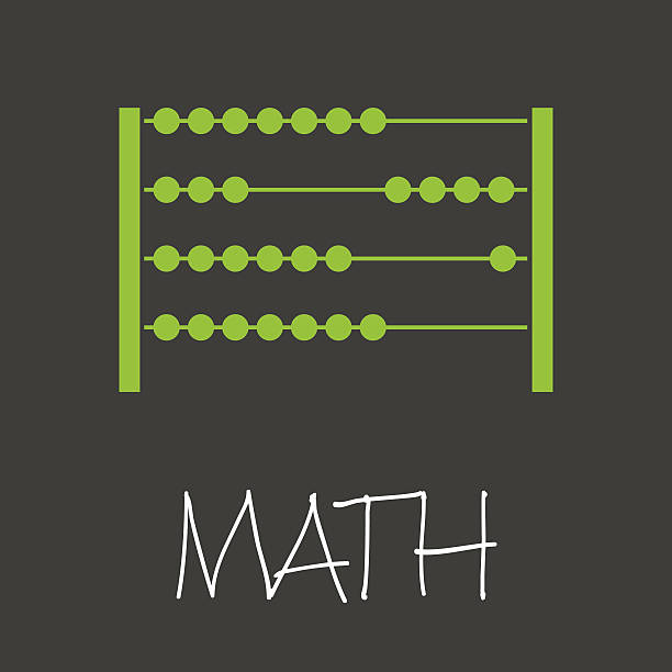 bildbanksillustrationer, clip art samt tecknat material och ikoner med math with abacus design banner and background eps10 - abakus