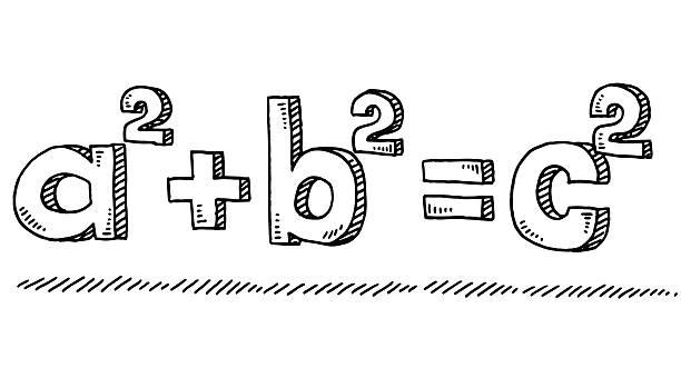 mathematic formula pythagoras drawing - formula 1 幅插畫檔、美工圖案、卡通及圖標