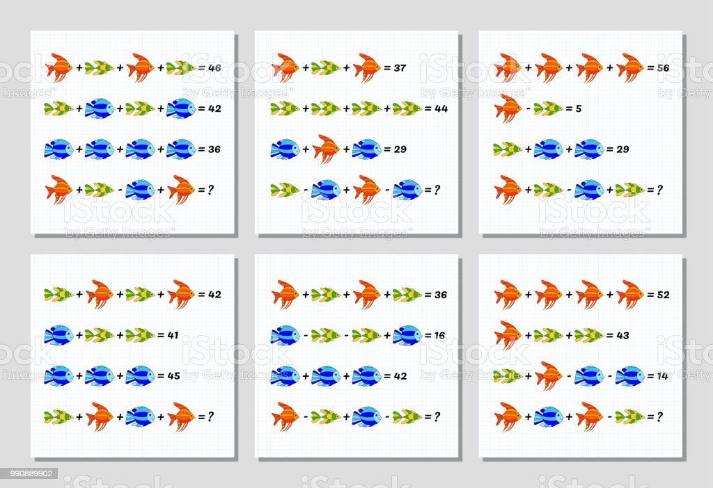 Matematik Toplama Cikarma Bulmaca Ayarlayin Denklemli Sistemi