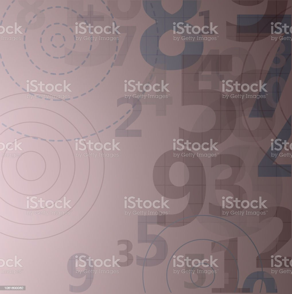 Mathematical digital code background vector art illustration
