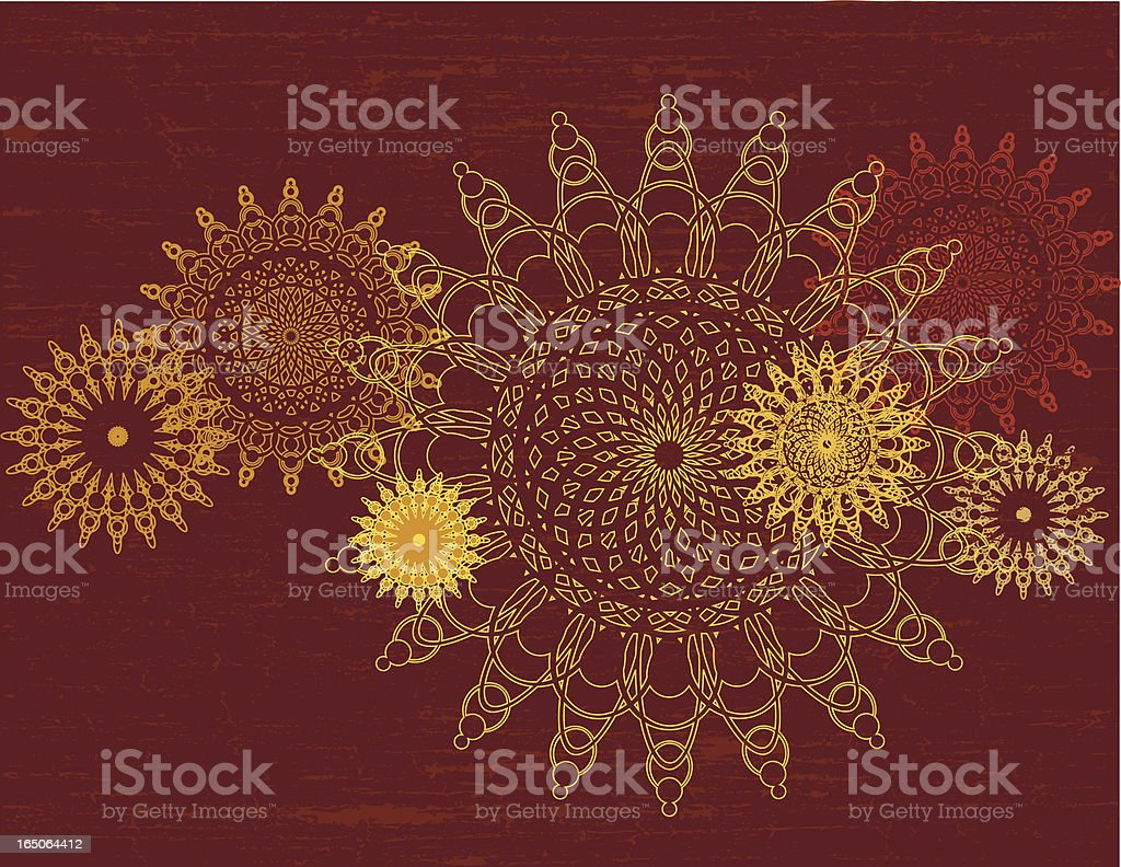 Mathematical Flowers II royalty-free stock vector art