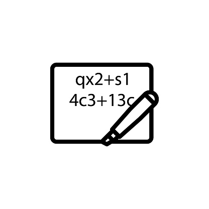 Mathematical Formula On A Sheet Icon Element Of Science
