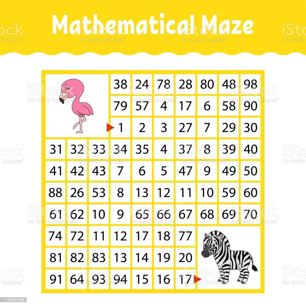Matematiksel Labirent Cocuklar Icin Oyun Komik Labirent Egitim