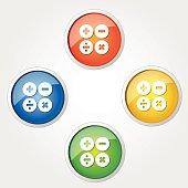 Mathematical Sign Colorful Vector Icon Design
