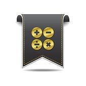 Mathematical Sign golden Vector Icon Design