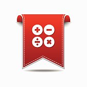 Mathematical Sign Red Vector Icon Design