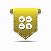 Mathematical Sign Yellow Vector Icon Design