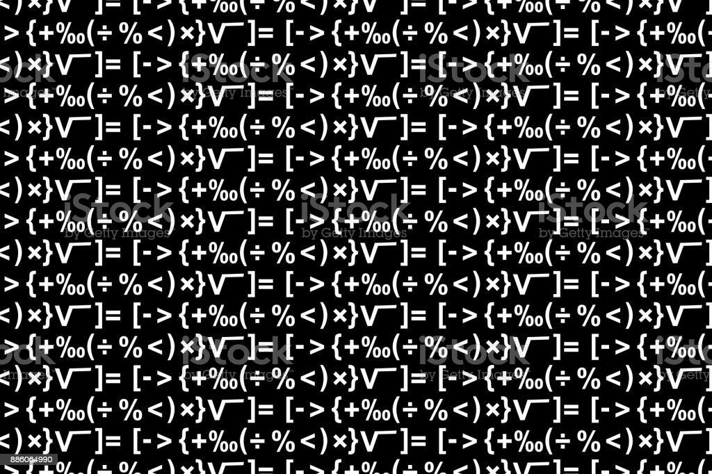 Mathematical Symbols Vector Background Stock Vector Art More