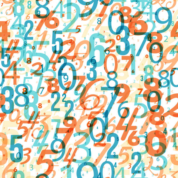 Mathematics background - different numbers pattern vector art illustration