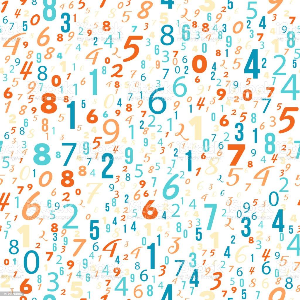 Mathematics Background Different Numbers Pattern Stock ...  Mathematics Bac...
