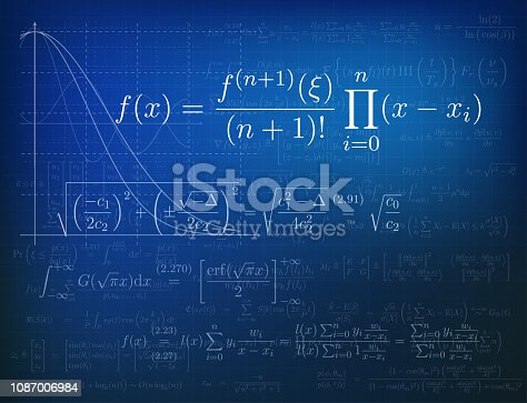 Background with mathematical formulas. Vector illustration.Background with mathematical formulas. Vector illustration.