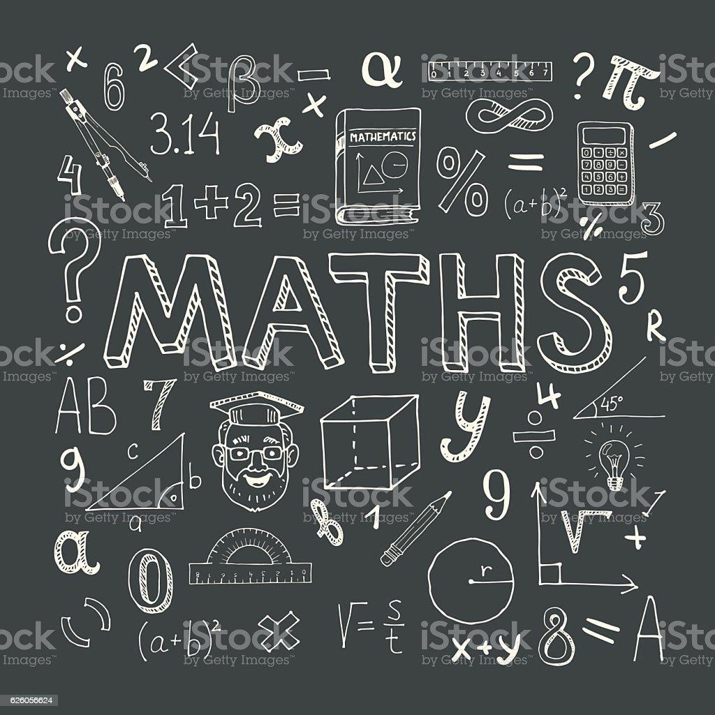 Mathematics background vector art illustration