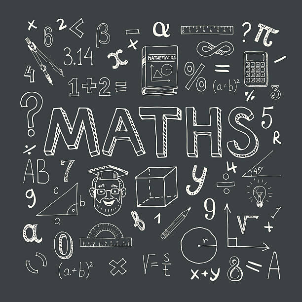 mathematics background - math class stock illustrations, clip art, cartoons, & icons