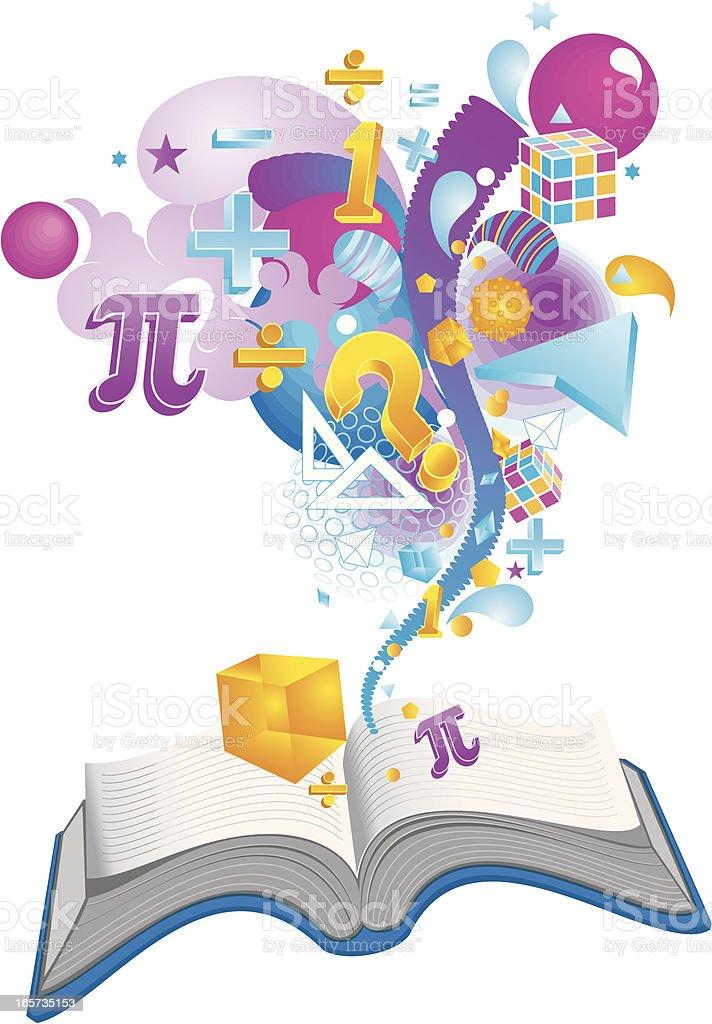 mathematics book royalty-free stock vector art