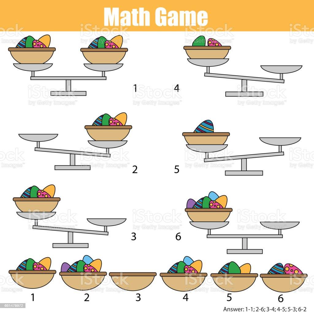 Ilustración De Juego Educativo De Matemáticas Para Niños