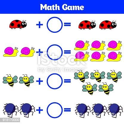 Mathematiklernspiel Für Kinder Lernen Subtraktion Arbeitsblatt Für ...