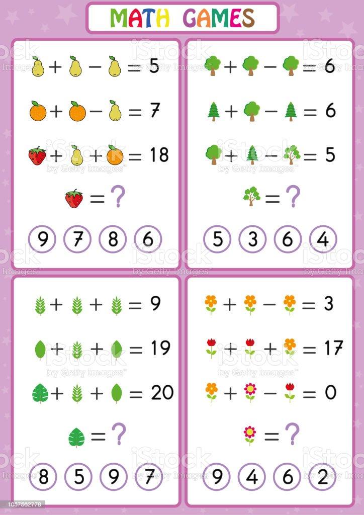 522ada7a6572 Matemáticas juego educativo para niños, divertidas hojas de trabajo para  los niños, los niños