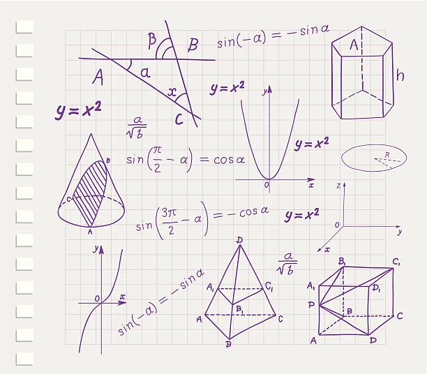 mathematics - geometric shapes and expressions sketches - formula 1 幅插畫檔、美工圖案、卡通及圖標